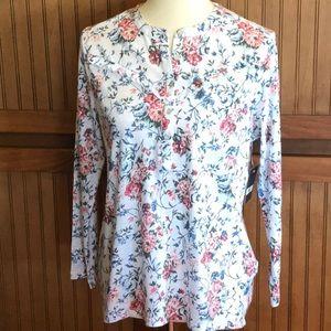 Lucky brand NWT long sleeve 5 button tee shirt